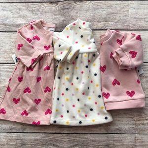 OLD NAVY Dot & Heart Dress/Tunic Size:0-3 Months